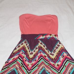 Strapless Dress with fun pattern